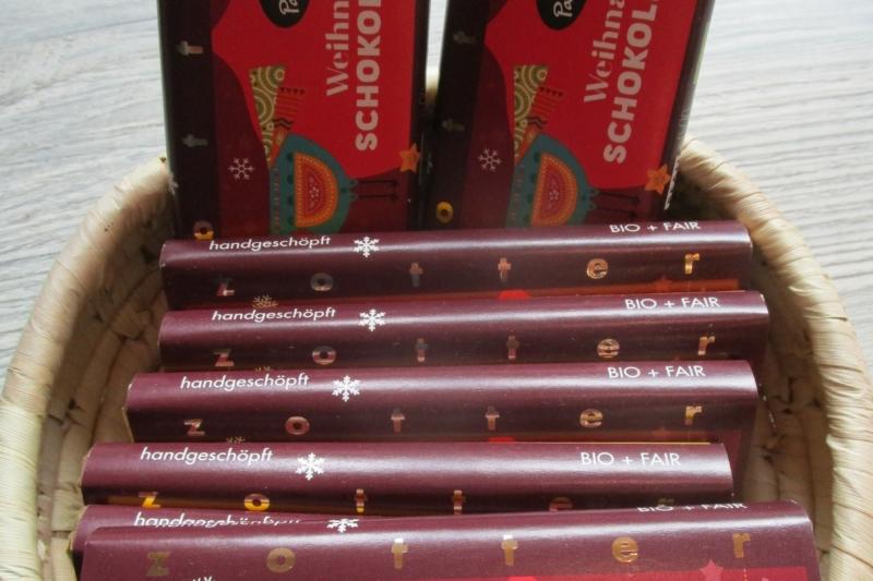 Weihnachtsschokolade   fair & bio   Weltladen Soltau