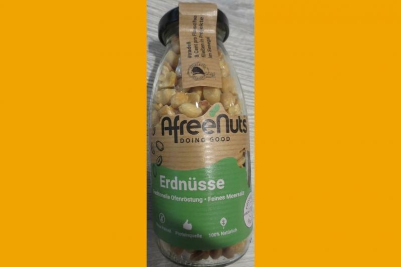Fair gehandelte Erdnüssse aus dem Senegal im Weltladen Soltau