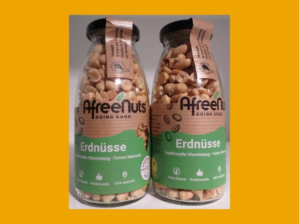 AfreNuts - leckere, gesunde Erdnüsse ohne Ölzusätze und Geschmacksverstärker aus dem Senegal im Weltladen Soltau
