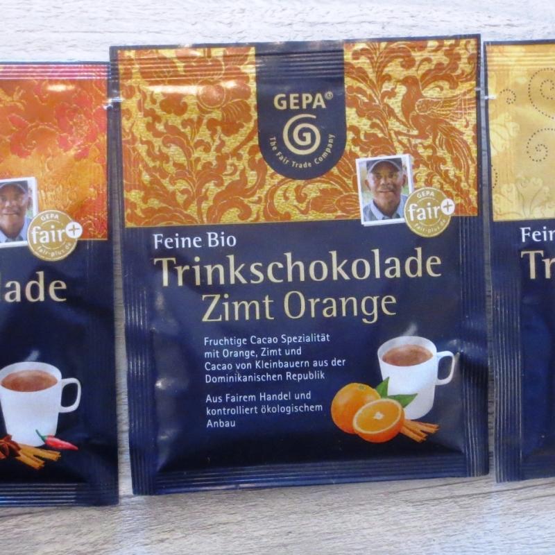 Winterfreude mit feiner Bio-Trinkschokolade in dreiverschiedenen Geschmacksrichtungen