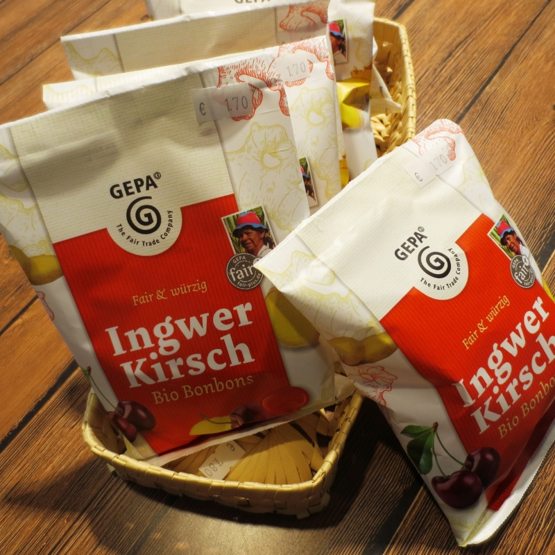Ingwer Kirsch Bio Bonbons