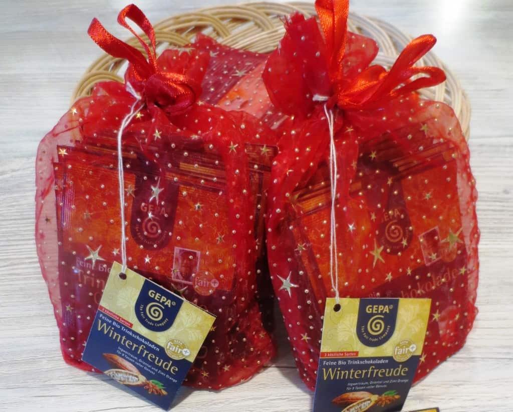 Gepa-Bio-Trinkschokolade in Geschenkverpackung im Weltladen Soltau
