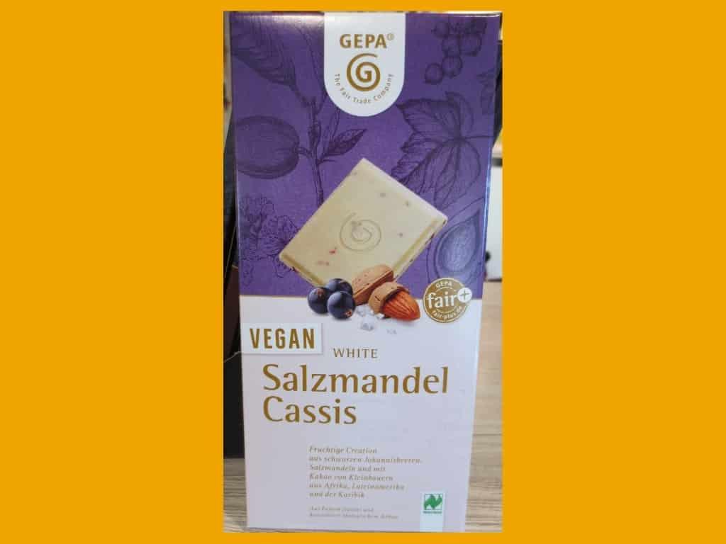 Vegan White Salzmandel Cassis von GEPA