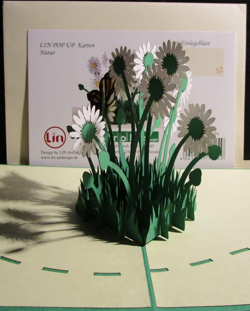 Blumenstrauss in 3D - Glückwunschkarte von LIN im Weltladen Soltau