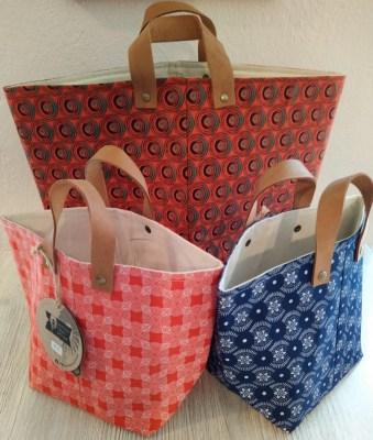 Handbedruckte Baumwolltaschen (verschiedene Modelle) aus Südafrika neu im Weltladen Soltau