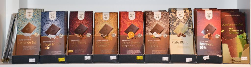 Schokoladensortiment - Weltladen Soltau