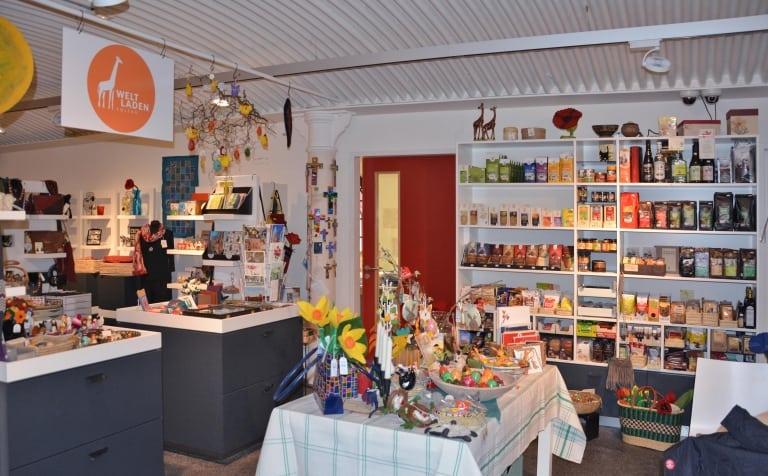 Innenansicht Weltladen Soltau, Marktstraße 19 in der felto - Filzwelt Soltau - täglich geöffnet