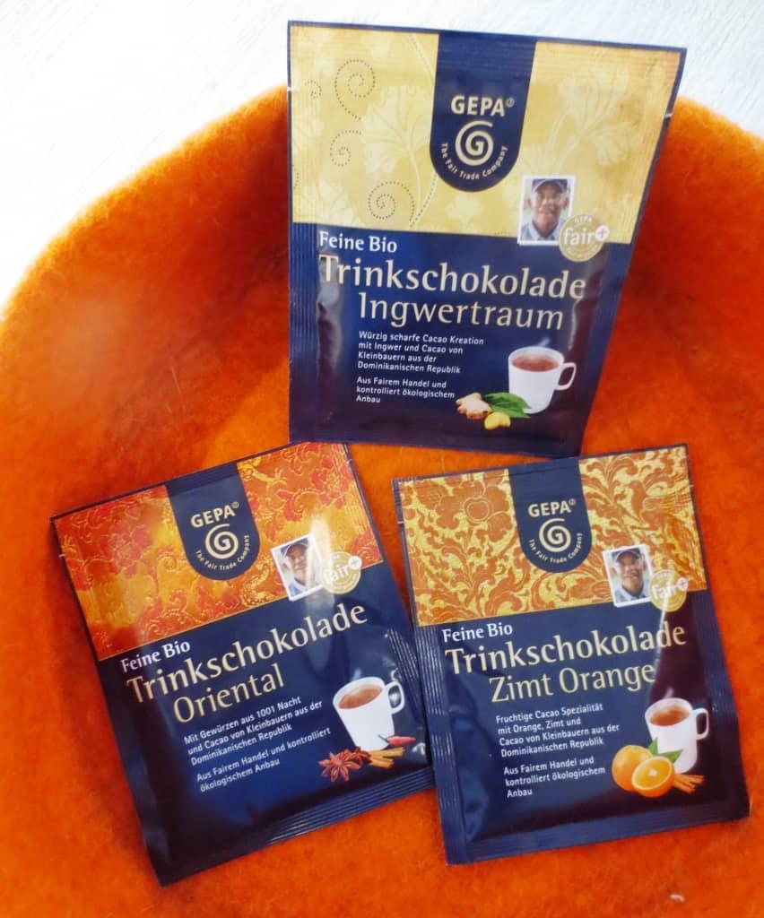 Weltladen Soltau: Bio-Trinkschokolade im Portionsbeutel zum Genießen